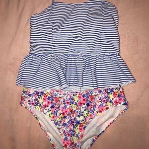 Girls swimsuit xl old navy halter strap
